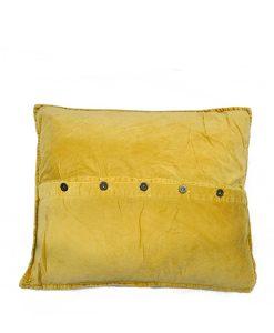 kusseen-geel-velvet-knopen